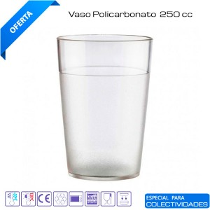 Vasos policarbonato 250cc