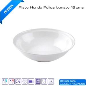 Plato hondo policarbonato