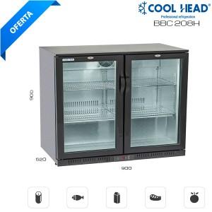 Mesa fría de conservación con puertas de cristal 208H