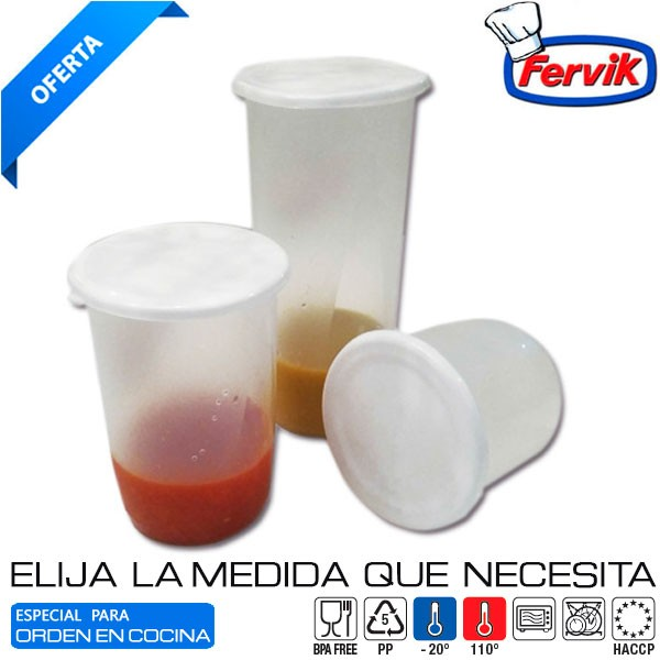 FERVIK Hermetico Redondo Nevera Fervik 1 L