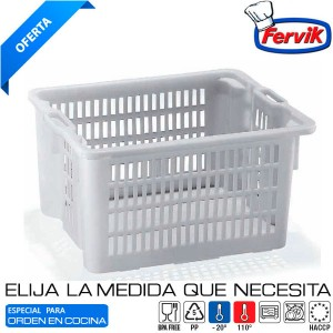 Cubeta Rejilla Apilable - Encajable