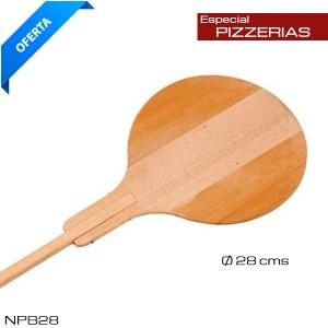 Pala para pizzas madera 33cm  Ø