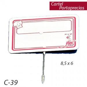 Cartel Portaprecios panadería (12 unds)