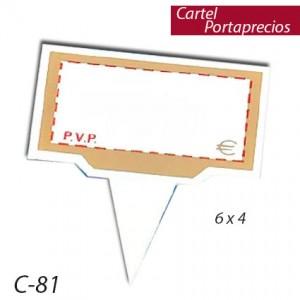 Cartel porta precios pincho ( 12 unds)