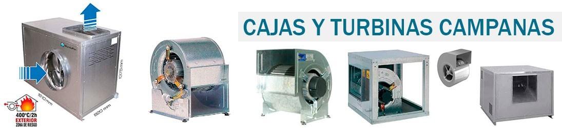 Cajas y turbinas para campanas