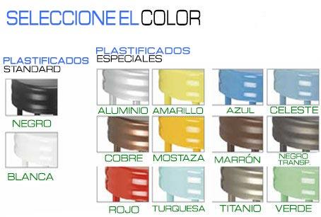 Colores armazón plastificado